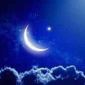 Moon and Stars Wallpaper